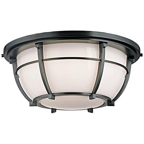 "Hudson Valley Conrad 15 3/4"" Wide Aged Zinc Ceiling Light"
