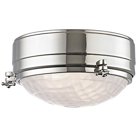 "Hudson Valley Belmont 9""W Polished Nickel Ceiling Light"