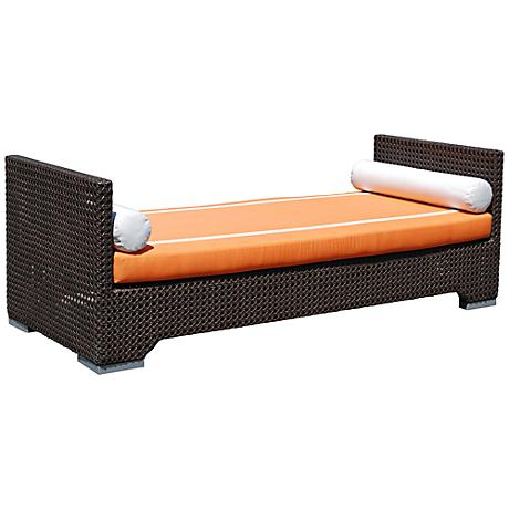 Dann Foley Bel Air Chocolate Wicker Outdoor Daybed