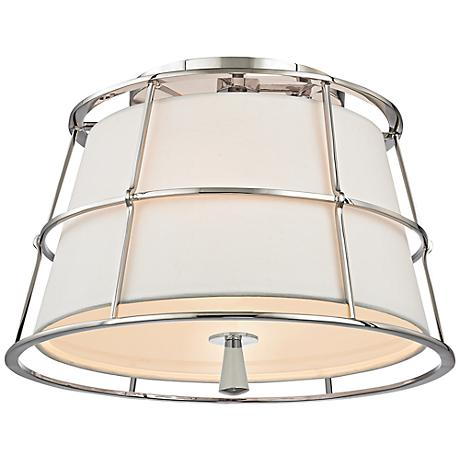 "Hudson Valley Savona 14 1/4"" Wide Nickel Ceiling Light"