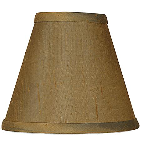 Khaki Brown Dupioni Silk Lamp Shade 3x6x5 (Clip-On)