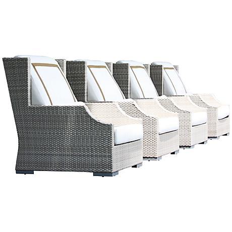 Dann Foley Hancock Seashell Outdoor Armchair Set of 4