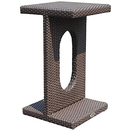 Dann Foley Studio Chocolate Wicker Outdoor Side Table