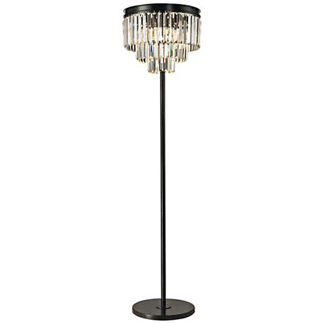 dimond palatial crystal chandelier floor lamp 7p985 With chandelier like floor lamp