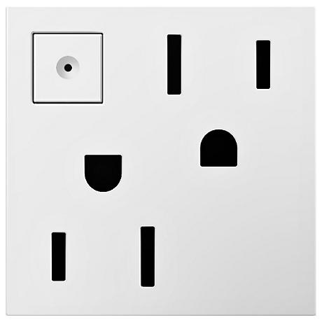 Adorne White 15A Energy-Saving On-Off Wall Outlet