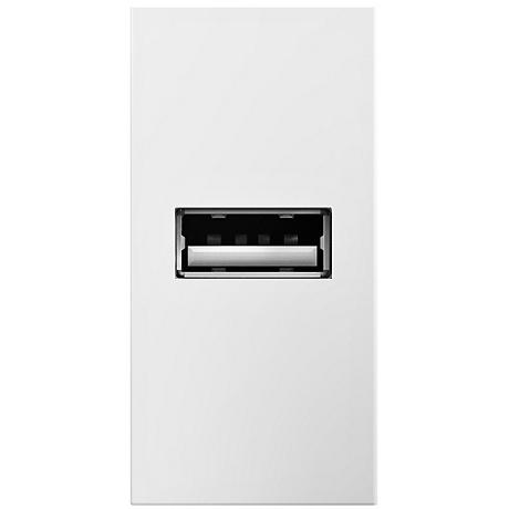 Adorne White 1/2 Gang USB Wall Outlet