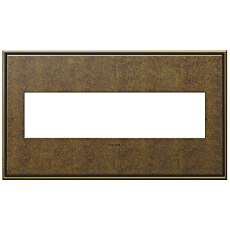 Adorne Cast Metal 4-Gang Aged Brass Wall Plate