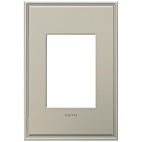 Adorne 1-Gang 3-Module Antique Nickel Wall Plate