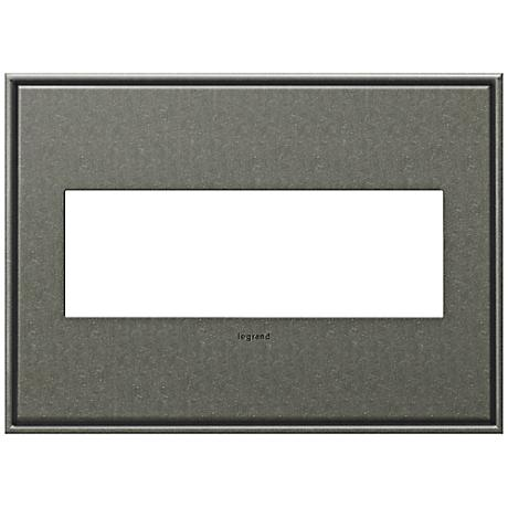 Adorne Cast Metal 3-Gang Brushed Pewter Wall Plate