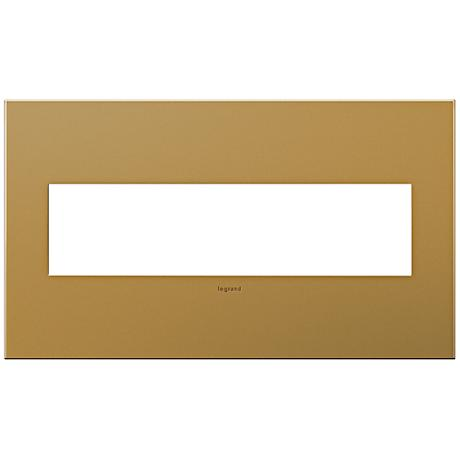 Adorne 4-Gang Satin Bronze Wall Plate