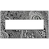 Adorne Magnesium Trim 4-Gang Customizable Wall Plate