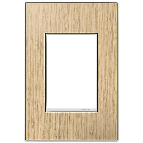 adorne® 1-Gang 3-Module French Oak Wall Plate