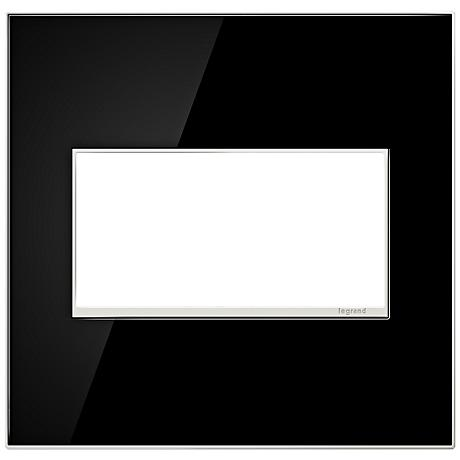 Adorne 2-Gang Mirror Black Wall Plate