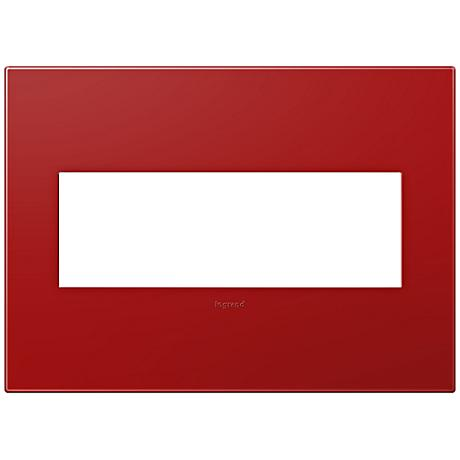 adorne® Cherry 3-Gang Snap-On Wall Plate