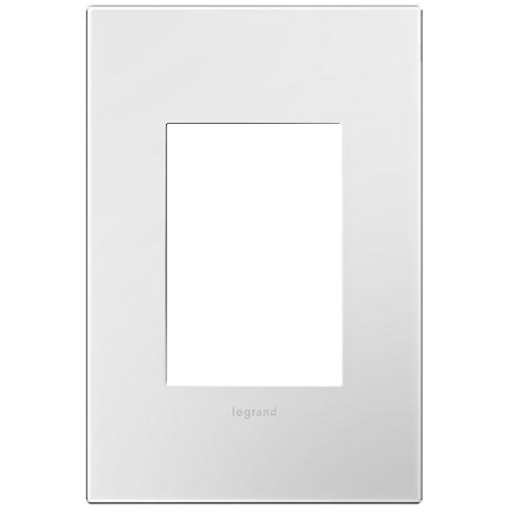 Adorne Gloss White 1-Gang 3-Module Snap-On Wall Plate