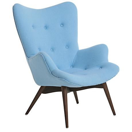 Impacterra Gelsenkirchen Light Blue Faux Leather Club Chair