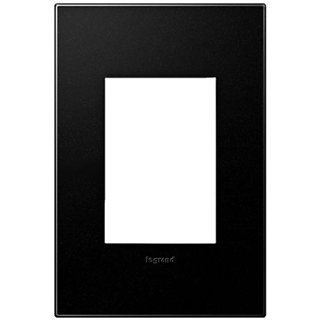 Adorne Graphite 1-Gang 3-Module Snap-On Wall Plate