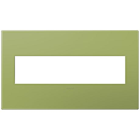 Adorne Lichen Green 4-Gang Snap-On Wall Plate
