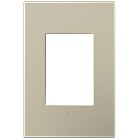 Adorne Snap-On Titanium 1-Gang 3-Module Wall Plate