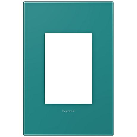adorne® Snap-On Turquoise Blue 1-Gang 3-Module Wall Plate