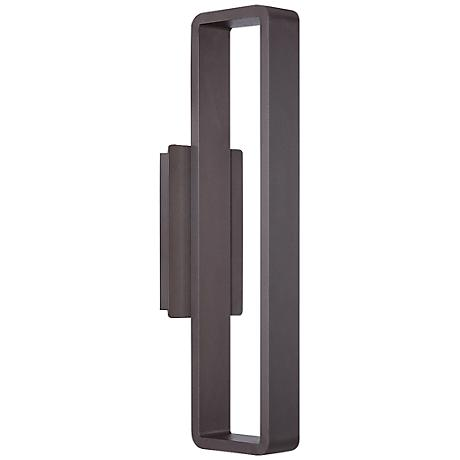"WAC Janus 22"" High Bronze LED Outdoor Wall Light"