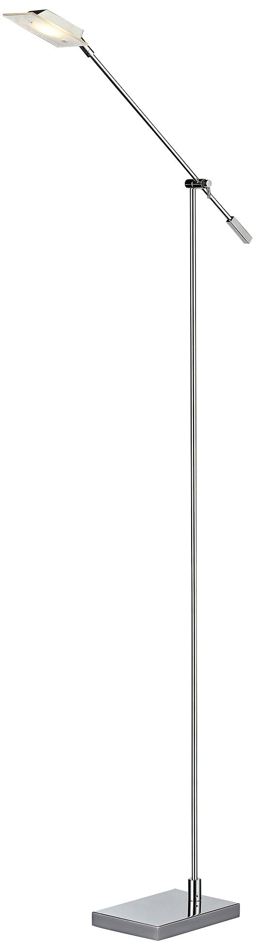 Dimond Bibliotheque Chrome LED Floor Lamp (7R964)