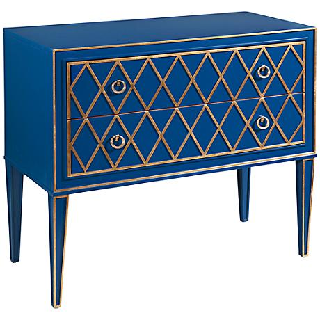 Selby Bright Blue 2-Drawer Hall Chest
