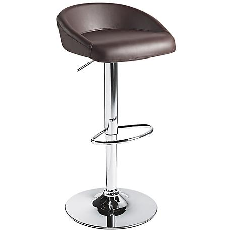 Fargo Brown Faux Leather Adjustable Swivel Barstool