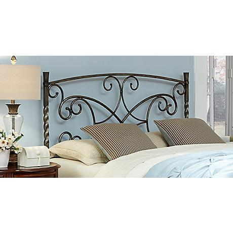 Charisma Copper Chrome Metal Headboard