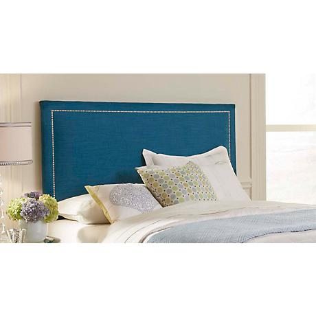 Clermont Peacock Upholstered Headboard