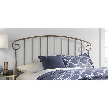 Dalton Speckled Gold Metal Headboard