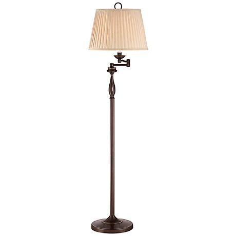 Quoizel Abbey Palladian Bronze Swing Arm Floor Lamp