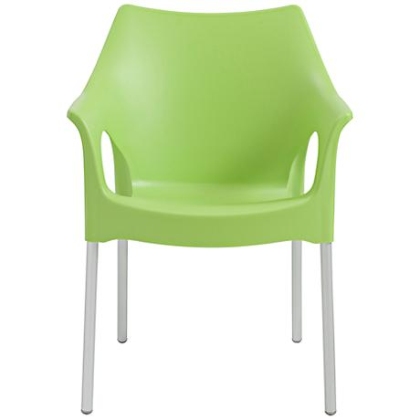 Ola Molded Lime Green Outdoor Armchair