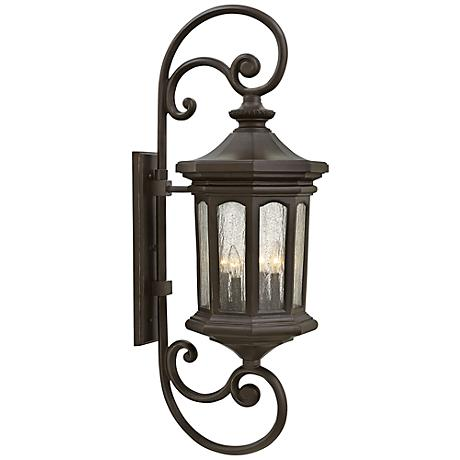 "Hinkley Raley 13"" W Oil-Rubbed Bronze Outdoor Wall Light"