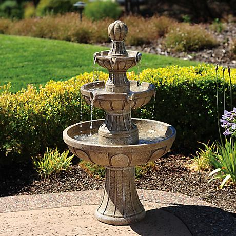 Napa Valley Three-Tier Courtyard Fountain