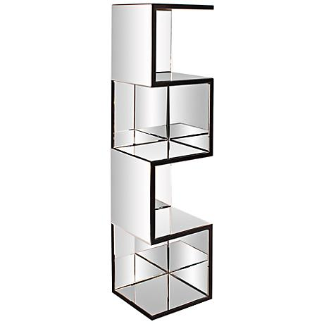Howard Elliott Mirrored Zigzag Bookshelf
