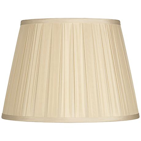 Eggshell Open Box Pleated Silk Shade 12x18x12 (Spider)