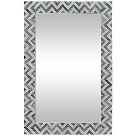Abscissa Gray Chevron 24 Quot X 36 Quot Rectangle Wall Mirror