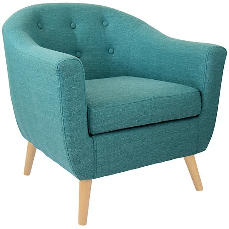 Rockwell Teal Upholstered Accent Chair