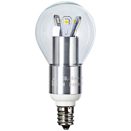 Clear 3 Watt Candle Base LED Fan Light Bulb