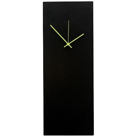 "Blackout Green Large 22"" High Minimalist Modern Wall Clock"