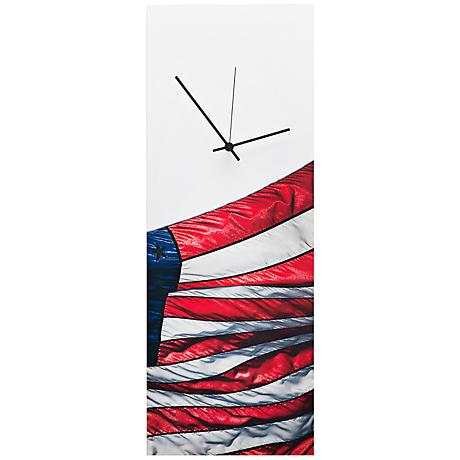 "US Flag 22"" High Patriotic Home Decor Wall Clock"