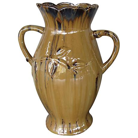 "Crestview Alexandria Large Natural Brown 16"" High Vase"