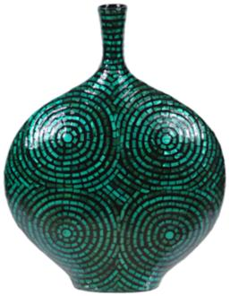 "Crestview Large Green Mother of Pearl 19 1/4"" High Vase (7X203) 7X203"