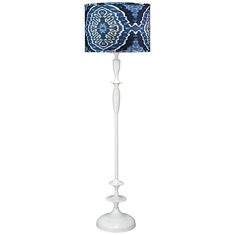 Jamie Young Petite Paro Royal Ikat White Floor Lamp