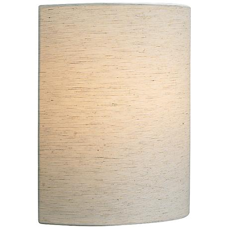 "LBL Fiona Incandescent 11"" High Linen Fabric Wall Sconce"