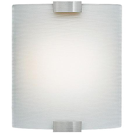 "LBL Omni 9 1/4""W Small Silver Frosted Glass Wall Sconce"