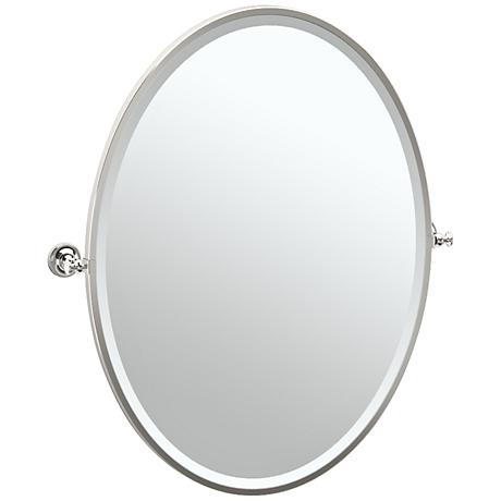 "Gatco Tavern Polished Nickel 28 1/2"" x 33"" Wall Mirror"