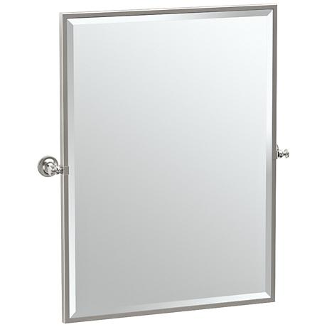 "Gatco Tavern Satin Nickel 28"" x 32 1/2"" Wall Mirror"