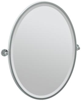 "Gatco Channel Chrome 23 3/4"" x 27 1/2"" Wall Mirror (7X567) 7X567"